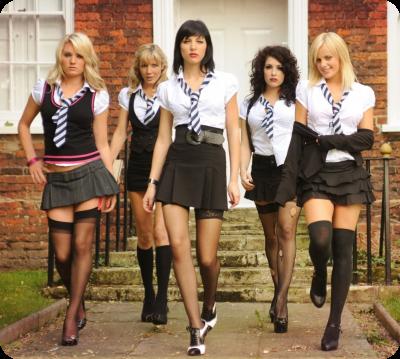 Dominante schoolmeisjes