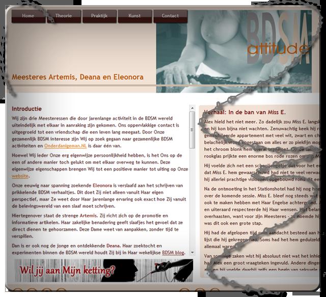 BDSMattitude over Onderdanigeman.NL