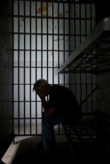 Gevangene in kooi